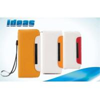 Yellow iPhone 4S Cell Phone Leather Cases with Card Slots , Wallet Style Manufactures
