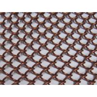 Bronze Color Metal Coil Drapery , Hanging Wire Mesh Room Dividers For Ceiling Manufactures