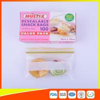 Seals Tight Plastic Ziplock Snack Bags Reuseable With Private Lable Manufactures