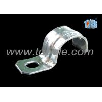 Zinc Plated Steel IMC Conduit Fittings Pipe Clamp One Hole Strap Manufactures