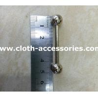 China 2.54 Inch Metal Garment Accessories Removable Mens Collar Bar Dress Shirt on sale