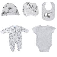 Printed spring and Autumn Newborn Baby Clothes Set Easy Wash And Easy Dry Manufactures
