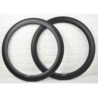 700c 60mm Carbon Clincher Rims , Carbon Cycling Rims To Absorb Vibrations Manufactures