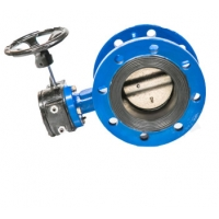 China Double Flanged Concentric Butterfly Valve With EPDM Rubber Seat on sale