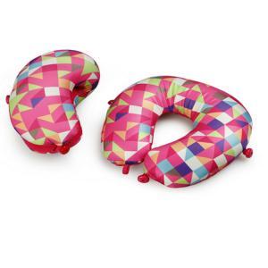 Quality Custom print beads cushion,spandex travel pillow,airplane u shape elastic pillow for sale