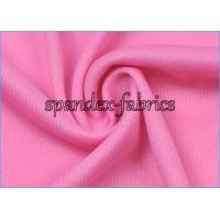 Pink DTY Weft Interlock Jersey Knit Lining Fabric Embossed Fabric Manufactures