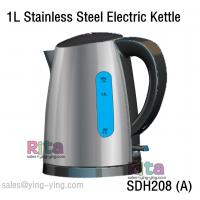 China Kettle Tea Stainless Steel Electric Cordless Portable 1 Liter Water SDH208 (A) Stainless Steel Electric Kettle on sale