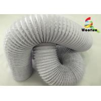 Quality Aluminum Fire Rated Flexible Ducting , Compressible PVC Ventilation Ducting for sale