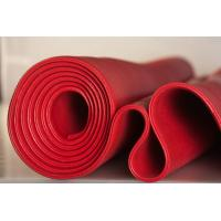 Red Solid Platinum Cured Silicone Sheet Textured Finish For Food Processing Industries Manufactures