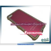 fashion diamoned covers for iphone4 case with red color Manufactures