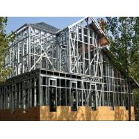 Thick Residential Prefabricated Homes , Aluminum Alloy Frame Steel Building House Manufactures