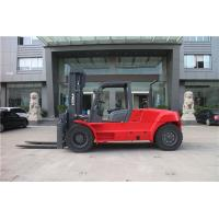 10 ton container fork lift truck / diesel forklift with fork positioner Manufactures