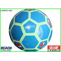 Blue Size 5 Football Soccer Ball With 32 Pentagonal And Hexagonal Panels Manufactures