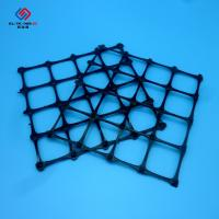 High Tensile Strength Pp Biaxial Geogrid / Black Bi - Direction Geotech Grid Manufactures