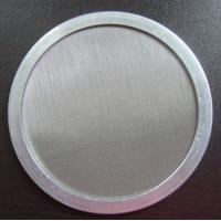 China Aluminium Edge Stainless Steel Filter Mesh 100/150/200 Mesh Size Round Fine Disc on sale