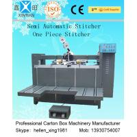 Auto Packaging Paper Carton Making Machine Of 900mm Height Feeder , Carton Stapler Manufactures