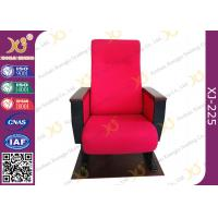 Push Back Fire Resistant Fabric Auditorium Chairs With Back MDF Writing Pad Manufactures