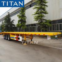 TITAN tri axle 40 foot flat bed trailer 50 ton flatbed semi trailer for sale Manufactures