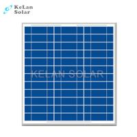 30w Polycrystalline Solar Panel Weathering Resistance TPT With 25 Years Warranty Manufactures