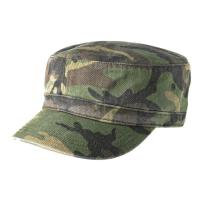 100% Cotton Twill Camo Flat Top Army Patrol Cap ,  Army Green Army Flat Cap Manufactures