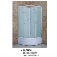 China High Tray Bathroom Shower Enclosures , Quadrant Shower Room with Fabric Glass on sale