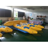Quality 0.9mm PVC Tarpaulin Material Gonflable Flyfish Inflatable Flying Fish Water Ski Tube Towable for sale