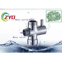 M1/2-M1/2-F3/4 Shower Room Accessory Brass Chrome Plated Three Way T-adapter Toilet Bidet Water Diverter Valve Manufactures