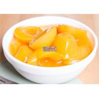Fresh Peeled Organic Canned Fruit Apricot In Syrup ISO Certification Manufactures