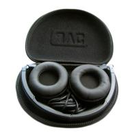 Oval Hard Shell EVA Headphone Case Velvet Lining Inside Box For Electronic Accessories Manufactures