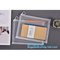 plastic Zippered Envelope Ziplock Waterproof PP Bags Seamless Slider Closure Storage Pouch for A4 Paper,Magazine,Memo Manufactures