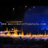 Fire Mix Water Fountain 20M For Outdoor / Indoor 16000 Lumens Panasonic Projector Manufactures