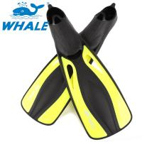 Adult Yellow Professional Diving Fins , Short Swim Fins For Snorkeling Manufactures