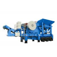 PP Series Mobile Jaw Crusher With Belt Conveyor / Coal Crushing Plant 10 - 35m3/H Capacity for sale