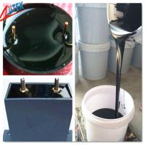 China Black Thermally Conductive Potting Compound , Two Compound Thermal Conductive Epoxy Glue on sale