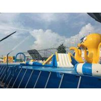 China CE Exciting Inflatable Water Parks With Large Frame Pool / Octopus Slide on sale