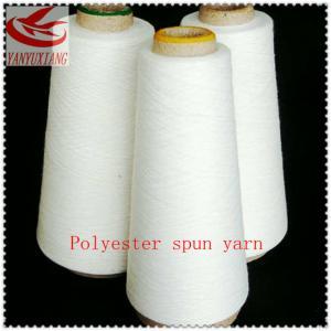 54/1 raw white polyester spun closed virgin yarn instock Manufactures