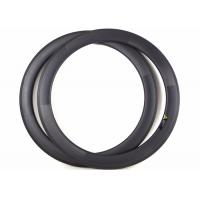 Clincher / Tubuless Carbon Road Bike Rims 60MM 700C Lightweight With Basalt Brake Manufactures