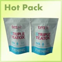 30 Days Triple Teatox Stand Up Tea Packaging Pouch With Zipper Plastic Material Manufactures