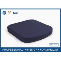 Comfort Polyurethane Memory Foam Seat Cushion For Car / Office Chair Manufactures