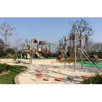 HDPE Caps Outdoor Kids Playground Equipment Climbing Bridge For Age 5 - 12 Manufactures