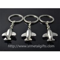 China Metal aviation plane model drop charm key chains, cheap metal air plane fob to keychains, on sale
