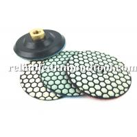 10 PCS 4 Inch Diamond Polishing Pads Dry With 1 PCS Backer Up Pad Manufactures