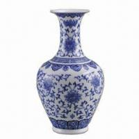 Blue and White Egg-shell Porcelain Vase with Classic Art Manufactures