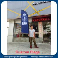 Outdoor Custom Blade Feather Flags With Ground Spike Manufactures