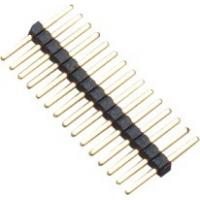 1.0mm 1*15P DIP PA9T Black Single Pin Header Connector Pe Bag For PCB Board Manufactures