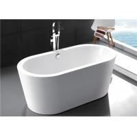 Polyester Resin Freestanding Soaking Bathtubs For Small Space Solid Surface Manufactures
