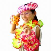 Flashing Hawaii Lei Light, Ideal Flower Necklace for Party Decoration Purposes Manufactures