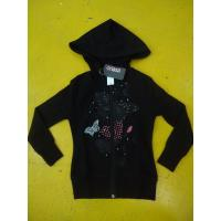 Little Girls Zip Up Hoodies Long Sleeve Cotton French Terry Zip Hoodie Butterfly Print Manufactures