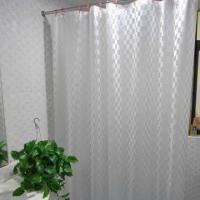 Plastic PEVA Shower Curtain, Environment-friendly and Biodegradable Manufactures