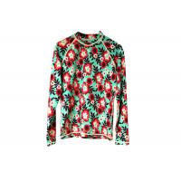 Scuba Womens Rash Guard Shirt Flower Pattern For Diving Surfing Swimming Manufactures